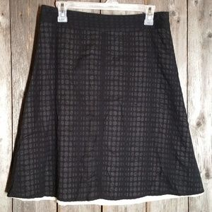 Kenneth Cole Skirt Black Textured A Line